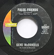 Gene McDaniels 45 RPM False Friends / It's A Lonely Town (Lonely Without You)