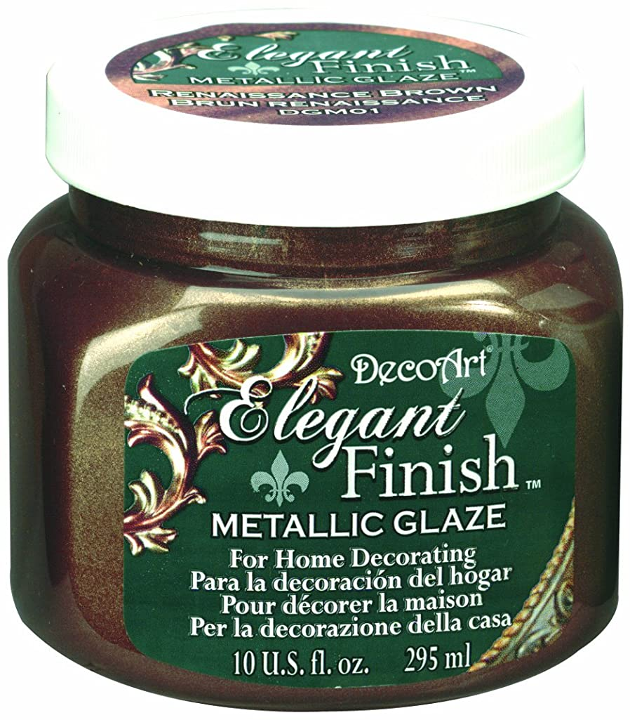 DecoArt DGM01-51 Elegant Finish Glazes, 10-Ounce, Renaissance Brown