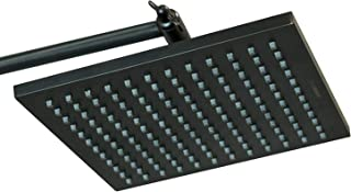 ShowerMaxx, Elite Series, 8 inch Square High Pressure Rainfall Shower Head, MAXX-imize Your Rainfall Experience with Easy-to-Remove Flow Restrictor Rain Showerhead, Oil Rubbed Bronze Finish