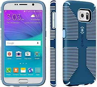 Speck Candyshell Grip Case Compatible with Samsung Galaxy S6 Black / Heather Purple
