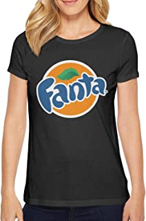 Women's Print Novelty Fanta-Drink-Logo- Loose-Fit t Shirt