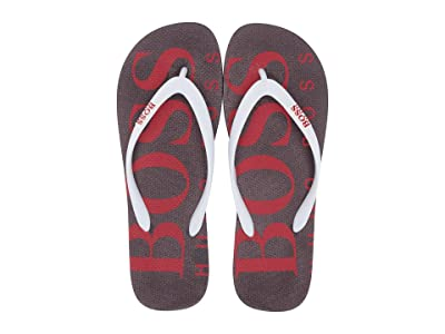 BOSS Hugo Boss Wave Thong Sandal By Boss Green (Open Red) Men