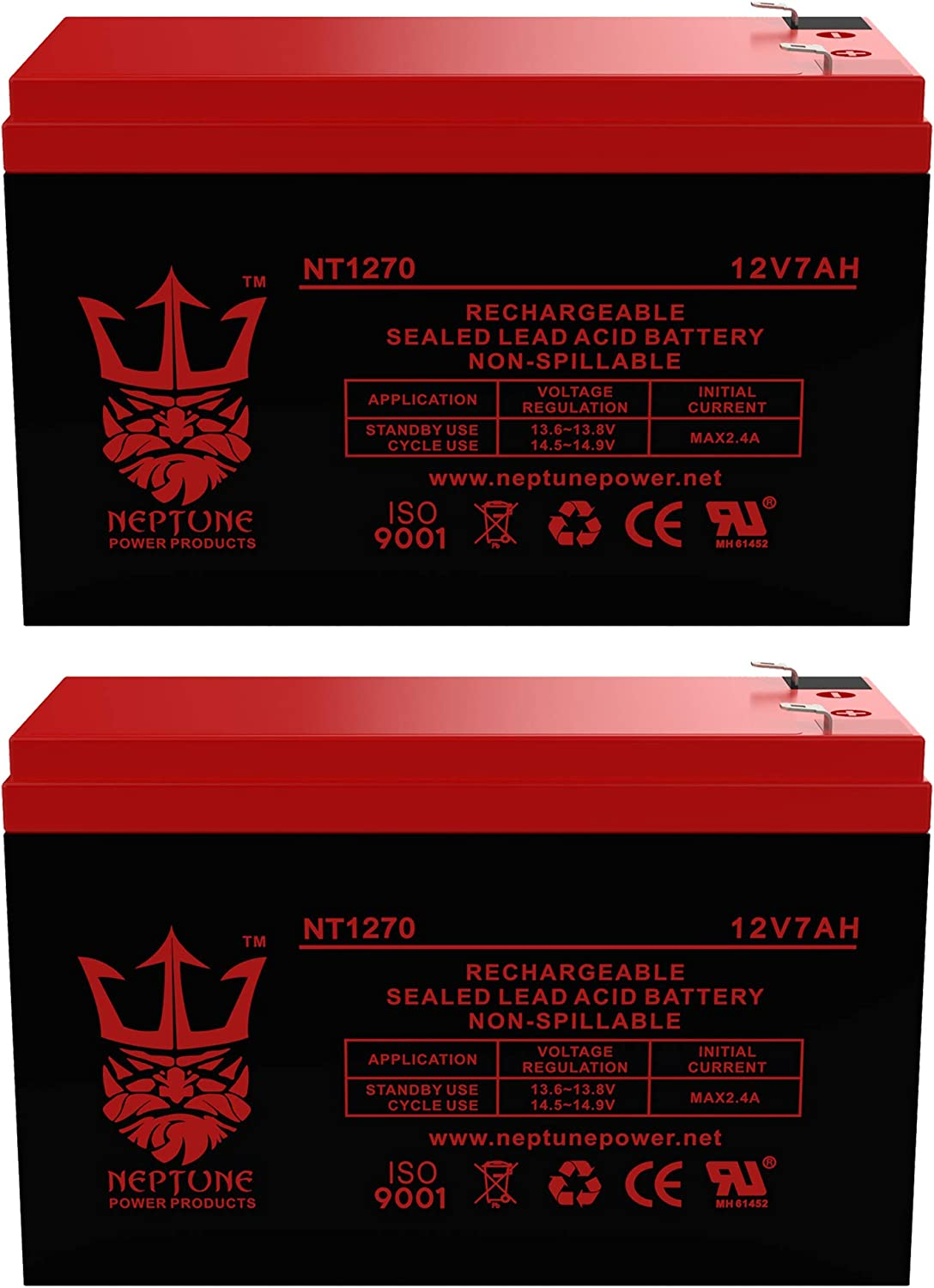 Neptune Battery Replacement. Enduring 6-DW-7 12V 7AH UB1270-2 Pack