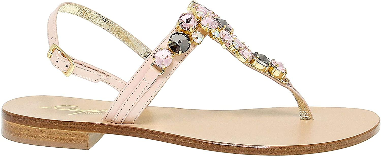 CAPRI Women's CAPRI19M16RO Pink Leather Sandals