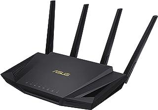 ASUS RT-AX58U AX3000 Dual Band WiFi 6 (802.11ax) Router, Black, 90IG04Q0-MFAR20