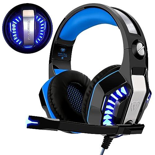 Cascos para Xbox One PS4, Beexcellent Auriculares Gaming Bajo Envolvente Estéreo con Micrófono Perfect Graba
