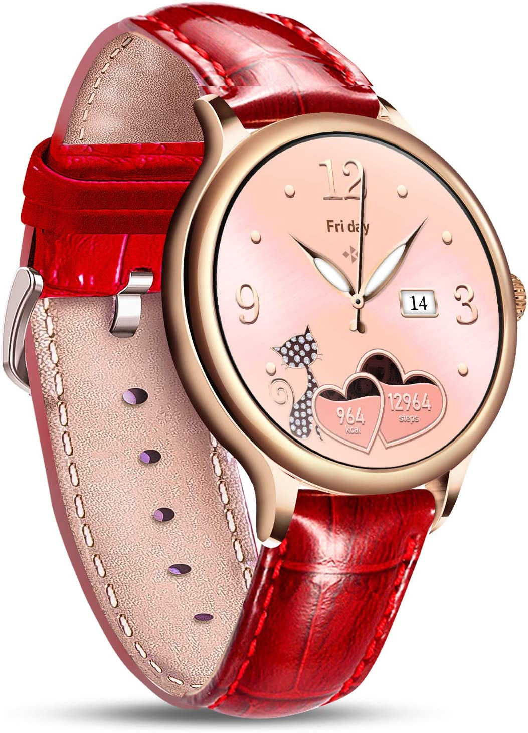 Helalife Smart Ranking TOP13 Watch Special price for a limited time for Smartwatches Round Touchscreen Women