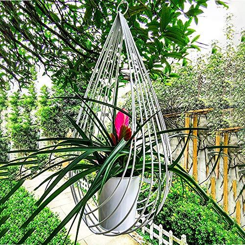 PLHMS Macetas Colgantes, Cestas de Metal para macetas Colgantes, macetas Creativas para macetas, suspensión de Planta de Techo de Metal Ovalado, para decoración de jardín Interior al Aire Libre