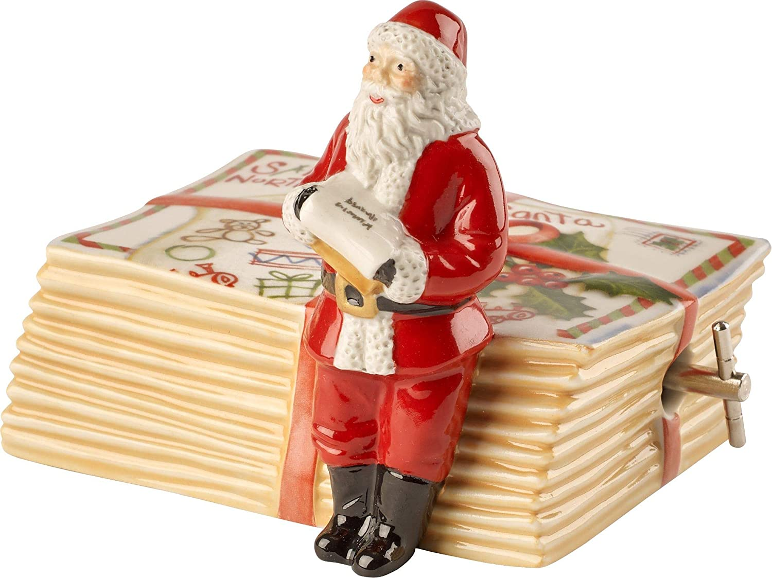 Villeroy & Boch Music Box, Multi Colour, Santa Standing on Letters