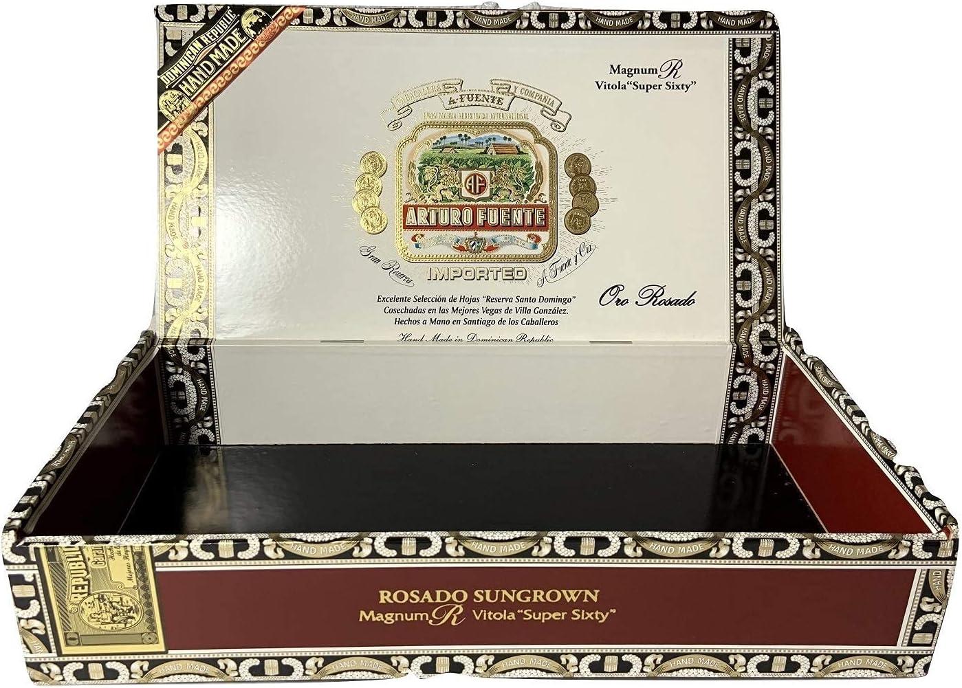 XBR Elegante Estuche de Caja de Puros de Madera Premium para humidor de Puros para Manualidades, Guitarras o Almacenamiento (Magnum R Vitola) para Almacenamiento de Puros (Tamaño: Magnum R Vitola)