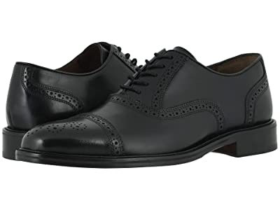 Johnston & Murphy Daley Cap Toe (Black Full Grain) Men