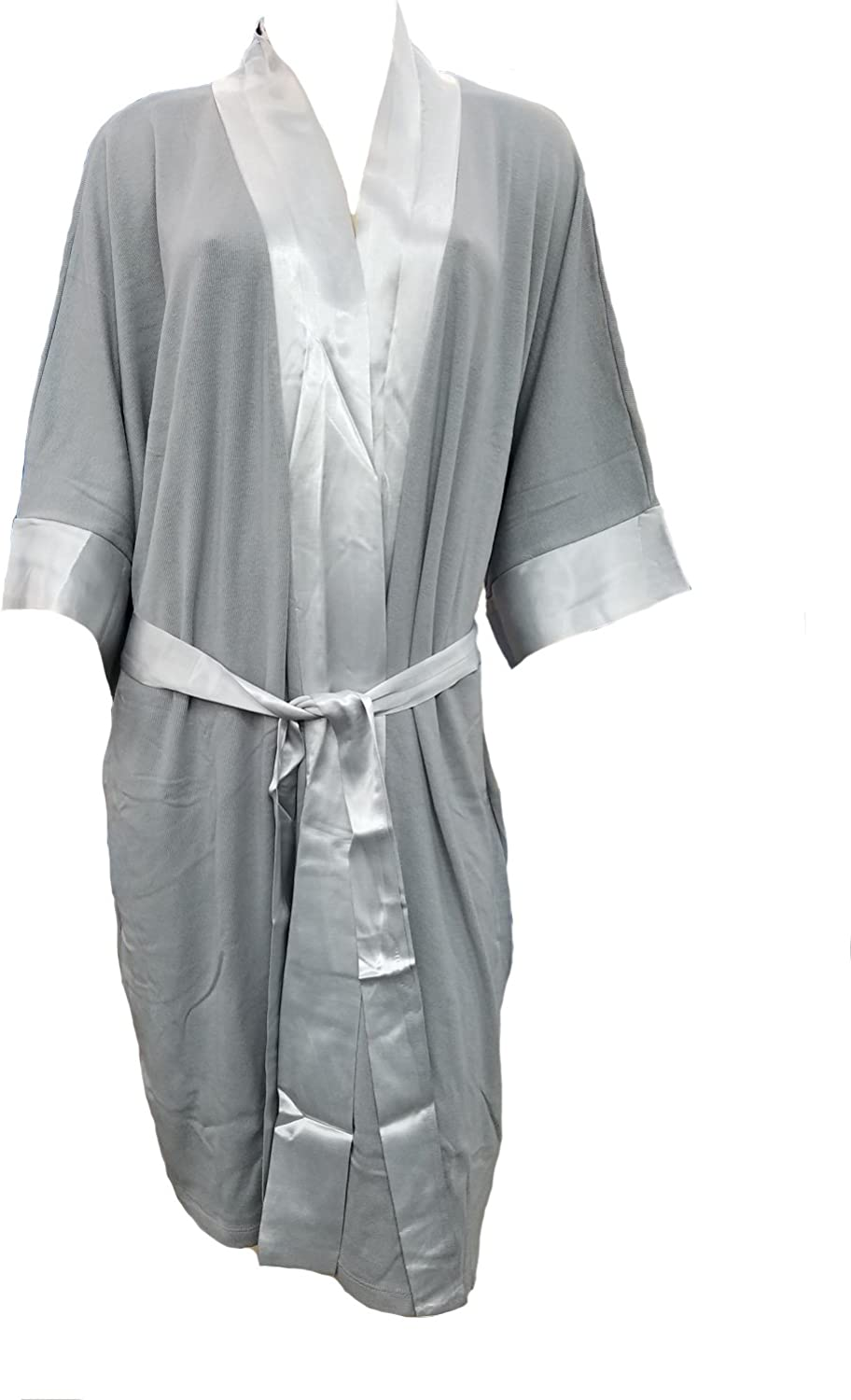 PJ Harlow Knit Robe with Pockets and Satin Trim Shala  PJSR6RSIZED