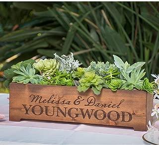 diy cedar monogram planter box