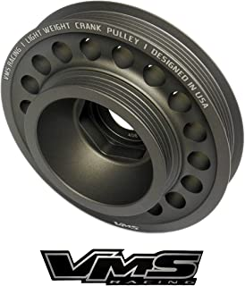 VMS Racing 93-01 Light Weight Billet Aluminum Crankshaft CRANK PULLEY Compatible with Honda Prelude with the 2.2L DOHC VTEC H22 H22A1 H22A4 engines 1993-2001