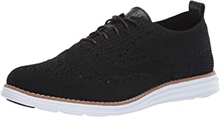 Cole Haan womens Originalgrand Stitchlite Wingtip Oxford Flat, Black Knit/Optic White, 7 US