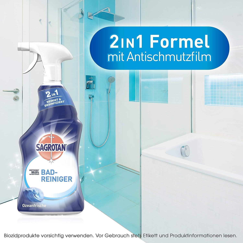 Sagrotan Bad Reiniger Ozeanfrische – 20in20 Desinfektionsreiniger ...