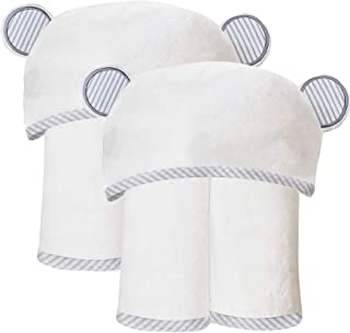 2 Pack Durable Large Bamboo Baby Bath Towel - 35 x 35...