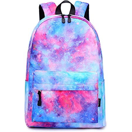 All Over Print Lightweight School Bag Student Unisex Book Bag Rucksack Daypack for Teen Boys and Girls Funnycokid Galaxy School Backpack