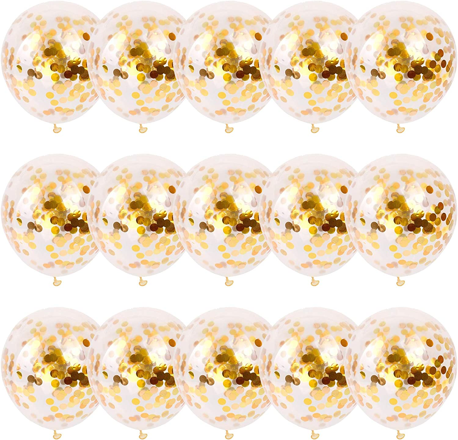 40pcs Gold Confetti Balloons,12 Inch Shining Gold Balloons with