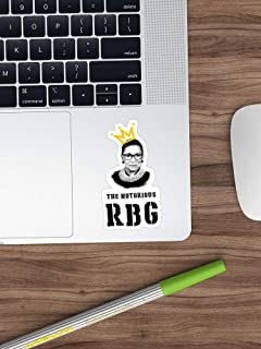 The Notorious RGB Tshirt Ruth Bader Ginsburg T Shirt I Dissent T Shirt Sticker Window Vinyl Sticker for Cars, Trucks, Windows, Walls, Laptops (Longest Side 3