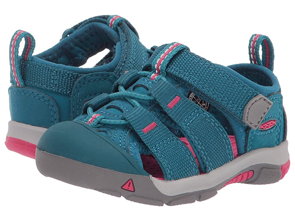 Keen Kids Newport H2 (Toddler) (Deep Lagoon/Bright Pink) Kids Shoes