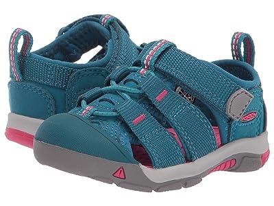 Keen Kids Newport H2 (Toddler) (Deep Lagoon/Bright Pink) Kids Shoes