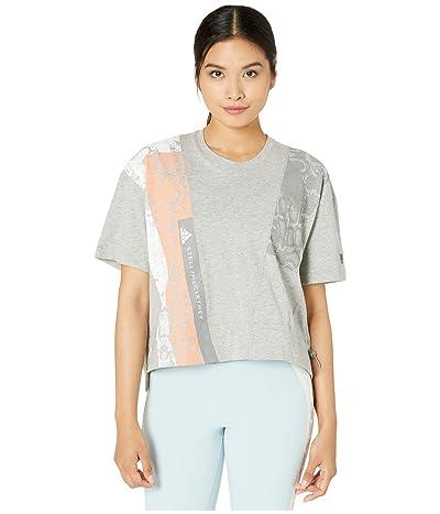 adidas by Stella McCartney Digi Print Graphic Tee FK9690 (Medium Grey Heather) Women