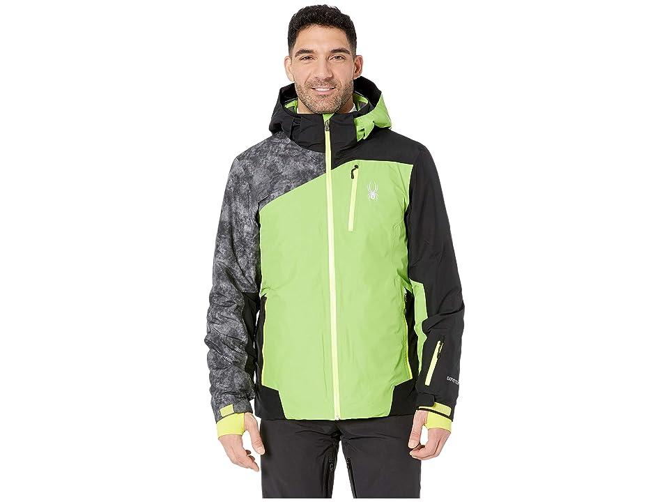 Spyder Copper Jacket (Fresh/Black/Cloudy Tonal Distress Polar) Men's Coat