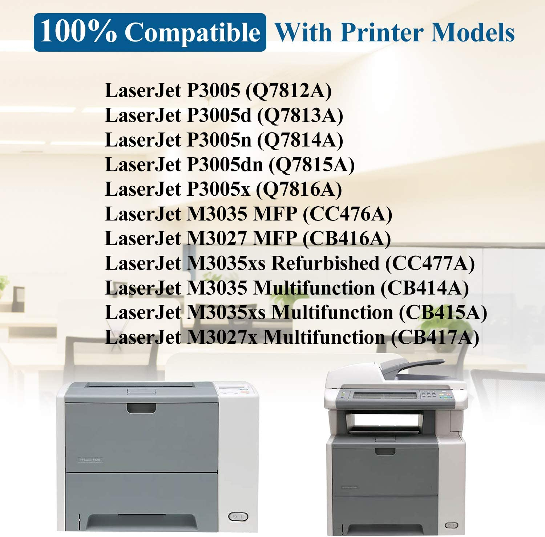 7-Pack Black 51X | Q7551X Compatible Toner Cartridge Replacement for HP P3005x P3005d P3005dn P3005n P3005 M3035xs M3035xs M3027x M3035 M3035 MFP M3027 MFP Printer, Toner Cartridge.