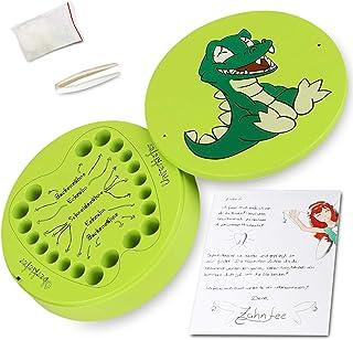 Boîte à dents de lait - Pour garçon et fille - En métal - Avec accessoires et lettre de fée