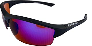BluBlocker Black Stinger Polarized with Blue Mirror Lens - 4214K