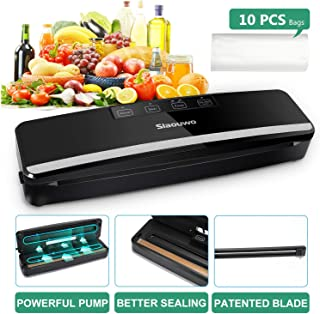 Slaouwo Vacuum Sealer Automatic Food Sealer Machine with Dry & Moist Modes, Led Indicator Light, Hose, Bags and Rolls Star...