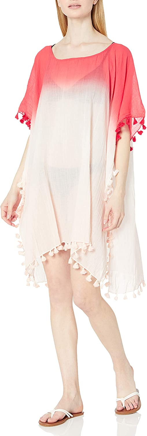Seafolly Women's Standard Ombre Caftan Cover Up with Tassel Trim, Beach Edit Sugrcl/pik, One Size