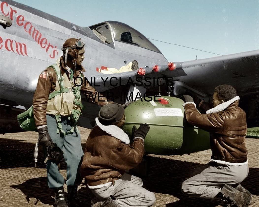 OnlyClassics 1945 WWII Tuskegee Airmen Black 8X10 Our shop OFFers the best service Recommended Fighter Pilots