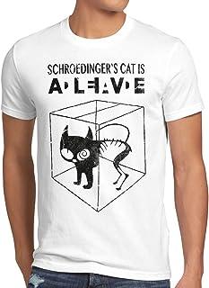 style3 Gato de Schrödinger Camiseta para Hombre T-Shirt Sheldon