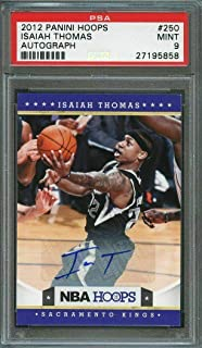 2012-13 panini hoops autograph #250 ISAIAH THOMAS boston celtics rookie 9 - PSA/DNA Certified - Basketball Slabbed Autographed Cards