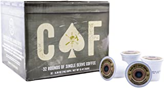 Black Rifle Coffee Company CAF Caffeinated AF Coffee Rounds for Single Serve Brewing Machines (32 Count) Medium Roast Coffee Pods Cups