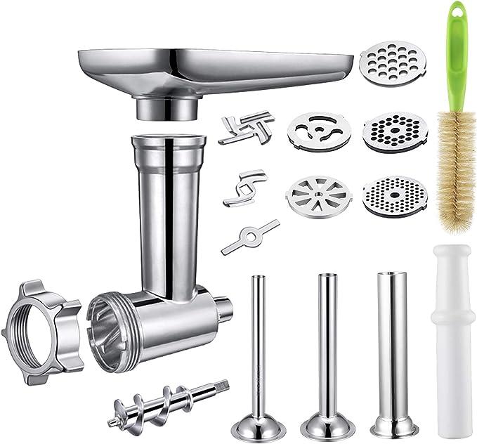 347 opinioni per Tritatutto di Metallo, Accessorio per KitchenAid, include 3 tubi per insaccare