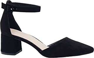 Greatonu Party Dress Pump Adorable Low Block Heel Closed Toe Chunky Sandals