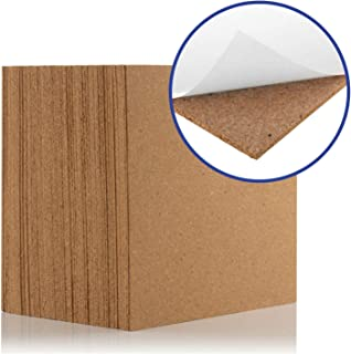 Azulejos de corcho natural de 300 x 300 mm (4 mm de grosor) para suelo, pared, bricolaje (autoadhesivo) (paquete de 75)