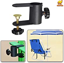 Strong Camel Umbrella Stand Bench Buddy Umbrella Holder Clamp Holder Clip Beach Fishing Umbrella Mount Chair Clamp (1pc Pack)