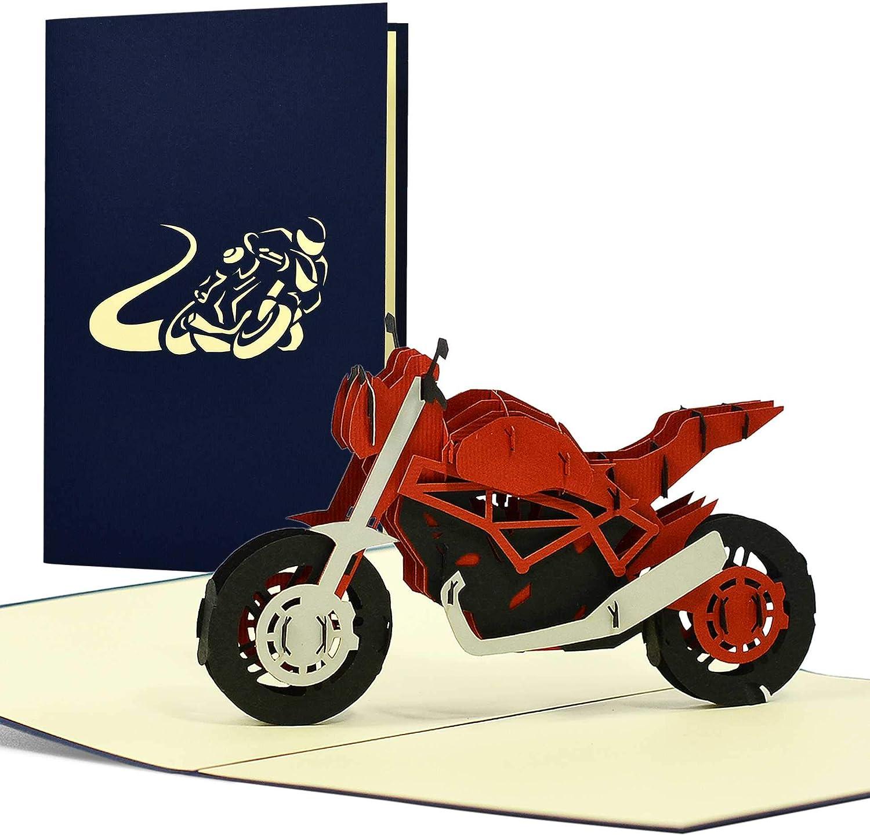 Geburtstagskarte Motorrad   8D Pop up I Geschenkidee für Biker ...