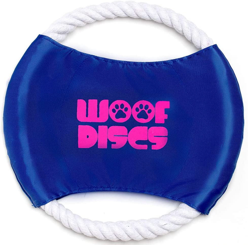 Woof Discs - Gorgeous Virginia Beach Mall Flying Chewing Frisbee Disc Rope
