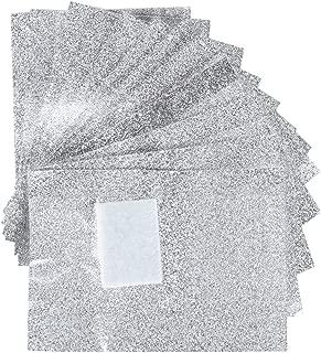 Hosaire 100 Pcs Nail Polish Remover Soak Off Gel Aluminium Foils Nail Wraps with Cotton Pad Nail Art Supplies