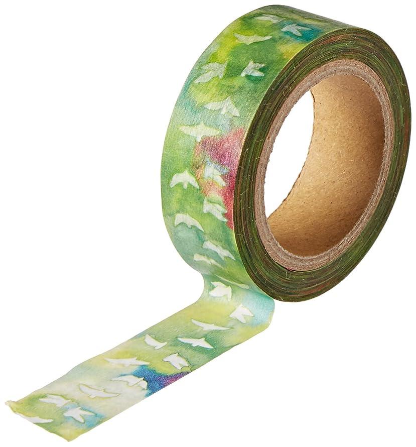 Roundtop Designer's Washi Masking Tape 15mm x 10m, Space Craft Decoration Masking Tape, Bird (SC-MK-003)