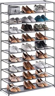 YOUDESURE 10 Tiers Shoe Rack, Stackable Shoe Organizer for 50 Pairs, Space Saving Shoe..