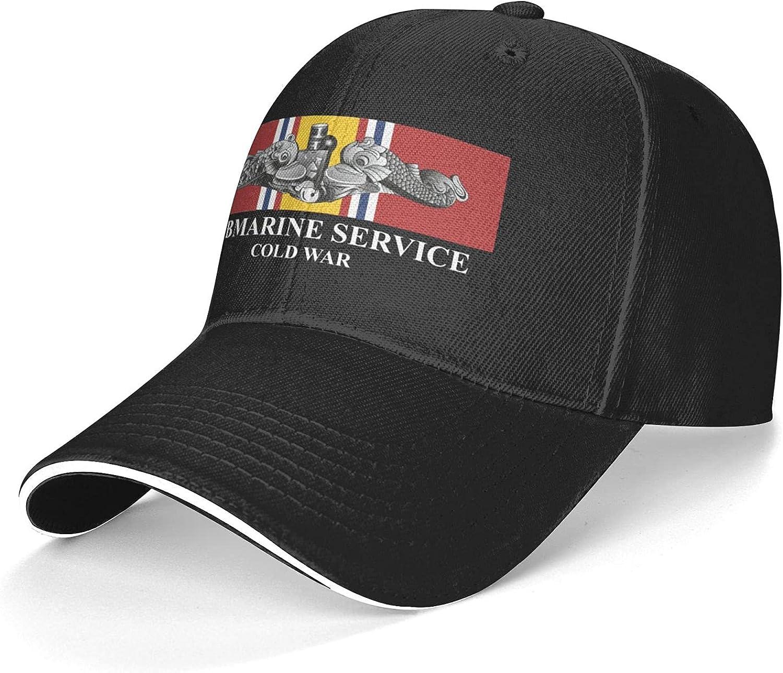Submarine Service Silver Dolphins Cold War Veteran Unisex Adjustable Sandwich Baseball Cap, Hip Hop Baseball Cap, Dad Cap, Trucker Cap
