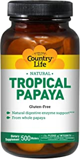 Country Life Chewable Papaya Tabs 500 tabs