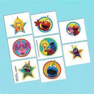 Amscan Sesame Street Tattoos Sheet (8 Tattoos per Sheet) - 2 Sheets