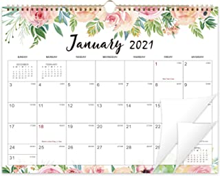 Wall Calendar 2021 - Floral 12 Monthly Wall Calendar,14.6'' x 11.4'', 2021 Yearly Wall Calendar,...